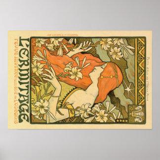 Alphonse Mucha Art Deco Poster