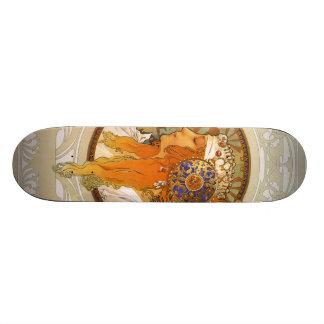 Alphonse Mucha Art Deco Skateboard Deck