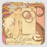Alphonse Mucha Art Deco Sticker