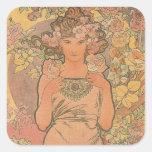 Alphonse Mucha Art Deco Stickers