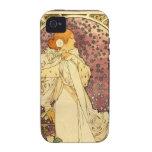 Alphonse Mucha Art Deco Vibe iPhone 4 Covers