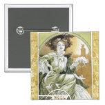 Alphonse Mucha - Art Nouveau Buttons