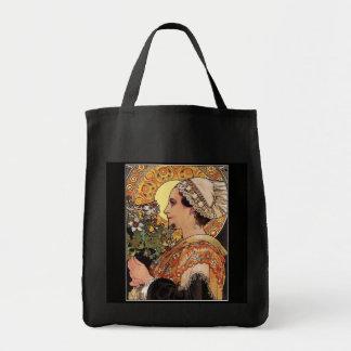 Alphonse Mucha - Art Nouveau - Thistle Tote Bag