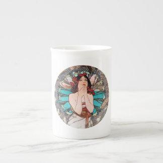 Alphonse Mucha Art Porcelain Mug