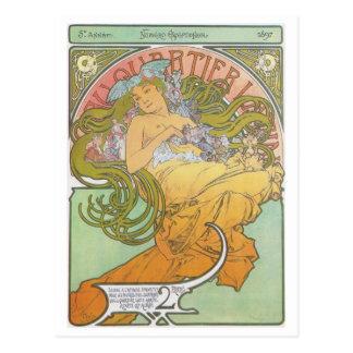 Alphonse Mucha - Au Quartier Latin Postcard