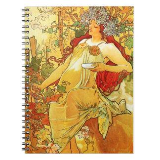 Alphonse Mucha Autumn Notebook