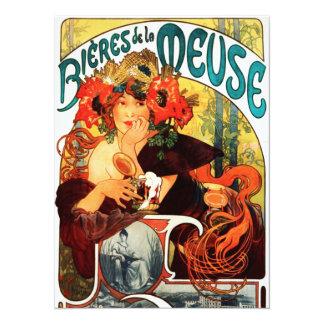 Alphonse Mucha Beer of the Muse Invitations