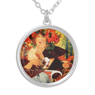 Alphonse Mucha Beer of the Muse Necklace