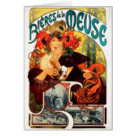 Alphonse Mucha Beer of the Muse Note Card