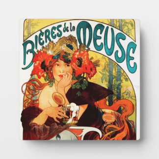 Alphonse Mucha Beer of the Muse Plaque