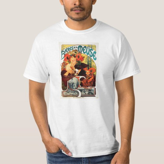 Alphonse Mucha Beer of the Muse T-Shirt