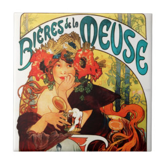 Alphonse Mucha Beer of the Muse Tile