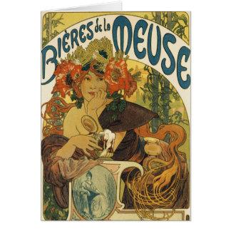 Alphonse Mucha - Bieres de la Muse Card