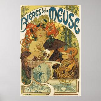 Alphonse Mucha - Bieres de la Muse Poster