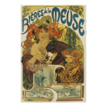 Alphonse Mucha - Bieres de la Muse Poster Poster