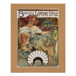 Alphonse Mucha Biscuits Cookies Vintage Ad Poster