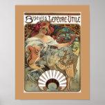 Alphonse Mucha Biscuits Cookies Vintage Ad Poster