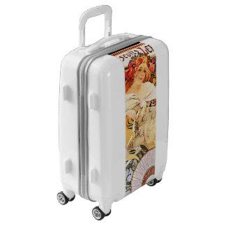 Alphonse Mucha Biscuits Lefevre Luggage Suitcase