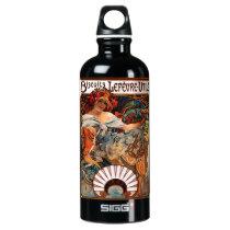 Alphonse Mucha Biscuits Lefevre Utile Aluminum Water Bottle