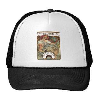 Alphonse Mucha Biscuits Lefevre Utile Trucker Hat