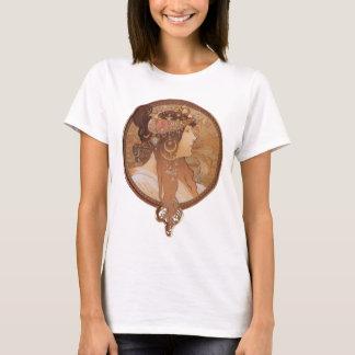 Alphonse Mucha Byzantine Head, The Brunette T-Shirt