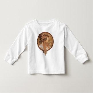 Alphonse Mucha Byzantine Head, The Brunette Toddler T-shirt