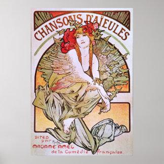 Alphonse Mucha. Chansons D 'Aieules, c.1898 Print