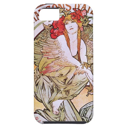 Alphonse Mucha. Chansons D 'Aieules iPhone SE/5/5s Case