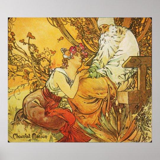 Alphonse Mucha. Chocolat Masson/Mexicain 1897 Poster