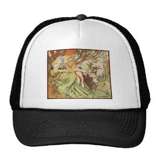 alphonse mucha chocolat mexicain trucker hat
