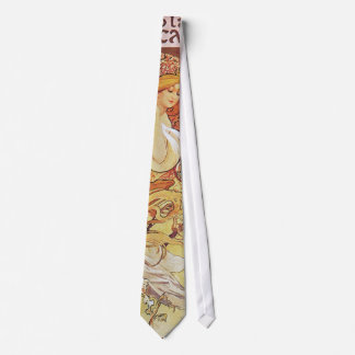 Alphonse Mucha Chocolat Neck Tie
