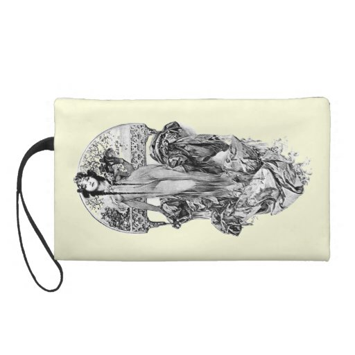 Alphonse Mucha-Choose color Wristlet Purse