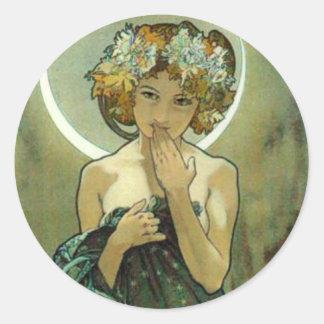 Alphonse Mucha Clair De Lune Stickers