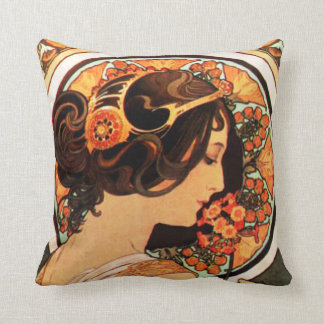 Alphonse Mucha Cow Slip Pillow