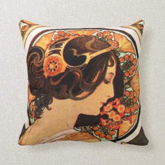 Alphonse Mucha Cow Slip Pillow