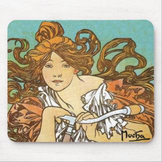 Alphonse Mucha - Cycles Perfecta Mousepads