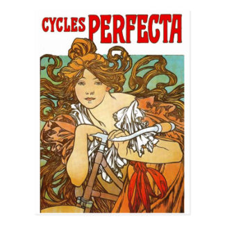 Alphonse Mucha - Cycles Perfecta Postcard