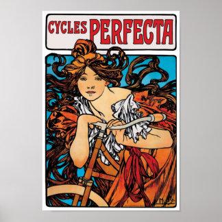 Alphonse Mucha - Cycles Perfecta Retro Art Nouveau Poster