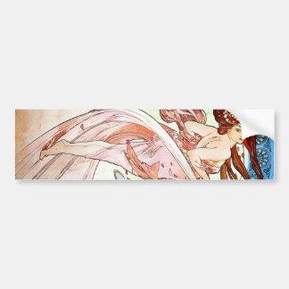 Alphonse Mucha Dance Bumper Sticker