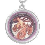 Alphonse Mucha - Dance Custom Necklace