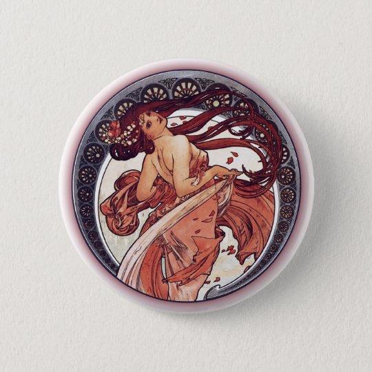 Alphonse Mucha - Dance Pinback Button