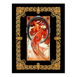 Alphonse Mucha - Dance Postcard