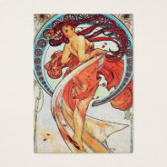 Alphonse Mucha Dance Vintage Art Nouveau Painting Business Card at Zazzle