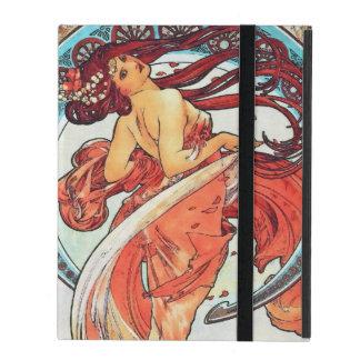 Alphonse Mucha Dance Vintage Art Nouveau Painting iPad Case