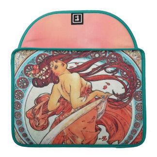 Alphonse Mucha Dance Vintage Art Nouveau Painting Sleeve For MacBook Pro
