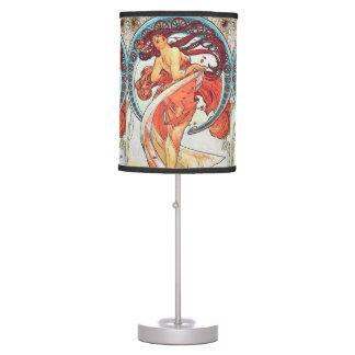 Alphonse Mucha Dance Vintage Art Nouveau Painting Table Lamp