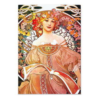 Alphonse Mucha Daydream Floral Vintage Art Nouveau Card
