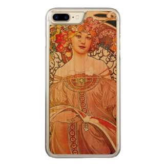 Alphonse Mucha Daydream Floral Vintage Art Nouveau Carved iPhone 8 Plus/7 Plus Case