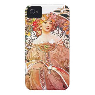 Alphonse Mucha Daydream Floral Vintage Art Nouveau Case-Mate iPhone 4 Cases