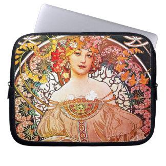 Alphonse Mucha Daydream Floral Vintage Art Nouveau Computer Sleeve